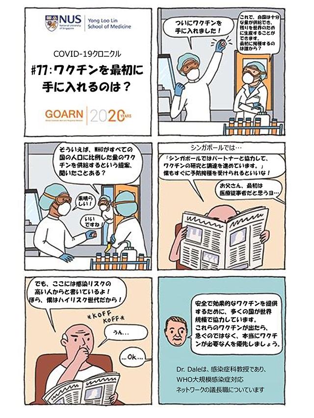 ワクチンを最初に手に入れるのは?