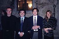 ECTM会長W.Passini、スピーカーの方と(右から2人目が篠塚 規氏)